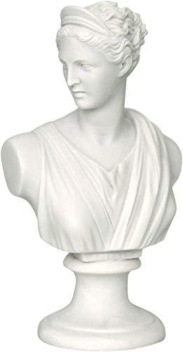 Dea Greca/Romana Artemide/Diana Busto Testa Scultura Statua in alabastro 22cm