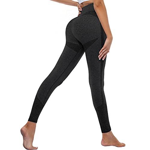 OUDOTA Damen Sports Leggings Slim Fit Hohe Taille Lange mit Bauchkontrolle Sport Blickdicht Yogahose Fitnesshose Laufhose Tights für zum Laufen, Radfahren, Fitness Mit Duft Schwarz S