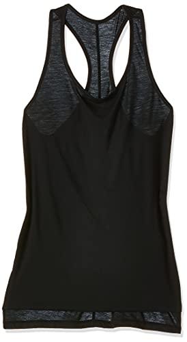 NIKE Yoga Layer Camiseta, Negro/Gris Ahumado, XS para Mujer