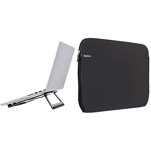 """AmazonBasics - Supporto richiudibile in alluminio per PC portatili con display fino a 15"""", Nero & Custodia per computer…"""