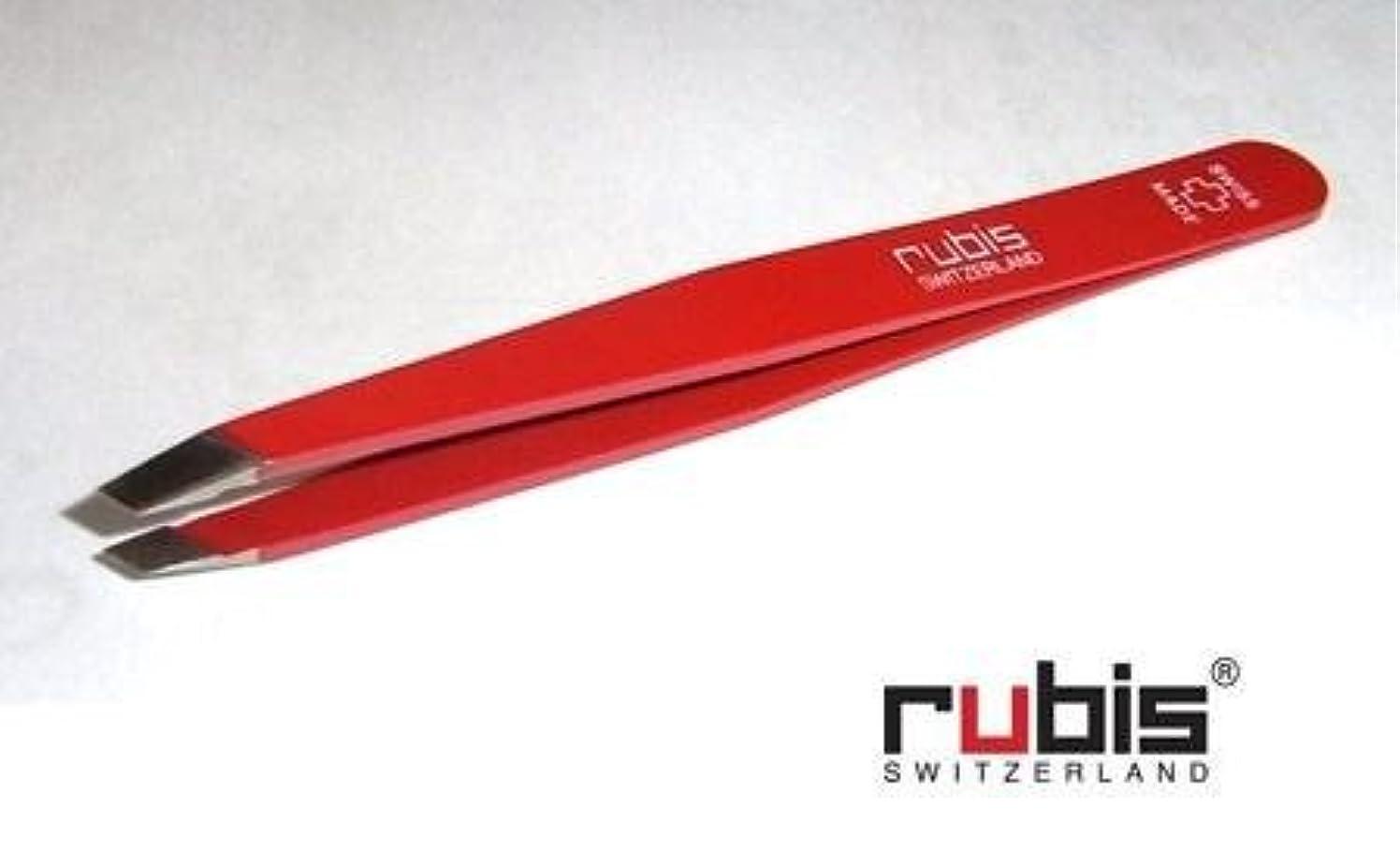 ルビス(スイス) ツイザー95mm(先斜)スイスクロス赤