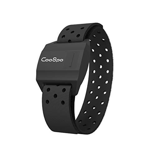 CooSpo Preciso pulsómetros Brazalete Compatible con Ant+ y Bluetooth Sensor óptico de Frecuencia Cardíaca