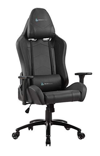 Newskill Takamikura - Silla gaming profesional (inclinación y altura regulable, reposabrazos ajustables, reclinable 180º), Color Negra ✅