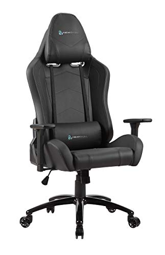 Newskill Takamikura - Silla gaming profesional (inclinación y altura regulable, reposabrazos ajustables, reclinable 180º), Color Negra ✅