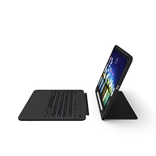 ZAGG Slimbook Go – Ultradünne Schutzhülle, aufklappbar mit abnehmbarer Bluetooth-Tastatur – Hergestellt für 2019 Apple iPad Pro 11 Zoll – Schwarz