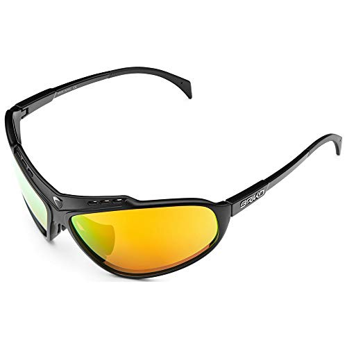 Briko Stinger Gafas Sol Ciclismo, Unisex Adulto, Matt Black, One