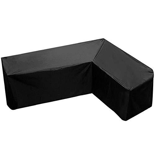 JQDZX Funda Muebles De Jardín, Impermeable Cubierta De Sofá De Esquina- Cubierta Antipolvo En Forma De L, resistente al viento, antiUV, para Sofás,Mesas y Sillas de Patio (155 * 95 * 68cm)