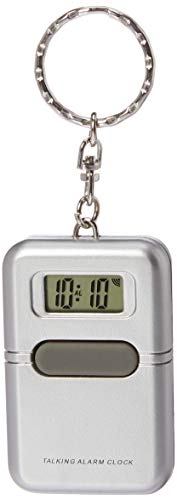 Talking Clock Keychain Silver