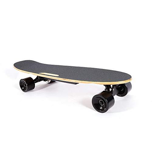 DIFU Elektro Skateboard, 350W Motor Elektro Skateboard E-Skateboard Komplettboard Longboard 20km/h mit Fernbedienung(Klassisches Schwarz)