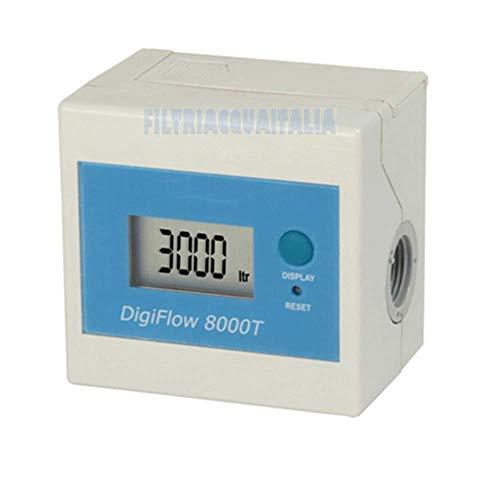Filtri Acqua Italia Contalitri Digitale Dg Flow 8000T Tempo /Litri