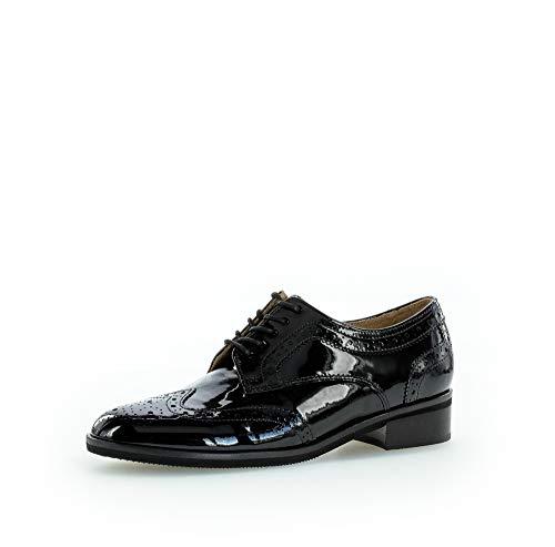 Gabor Damen Schnürhalbschuhe, Frauen Businessschuh, Shoes Low-tie Arbeitsschuhe Anzugschuhe Business Arbeit Office Freizeit,schwarz,42 EU / 8 UK