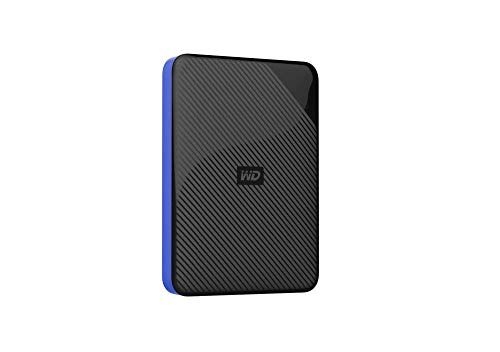 Western Digital Gaming Drive - Disco duro externo portátil para PlayStation 4 de 4 TB, color negro