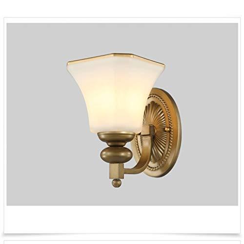 Z-LIANG Pared Retro Minimalista Dormitorio de la lámpara de Cristal de Hierro Continental Sala de Estar Lámpara Creativa Dormitorio de la lámpara lámpara de cabecera del Pasillo Escaleras Luz