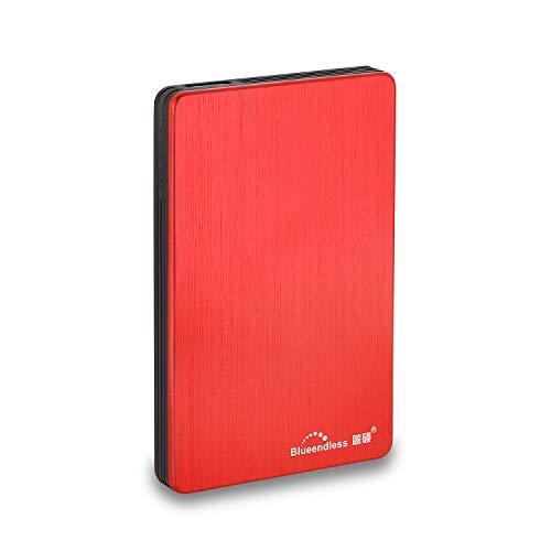 Blueendless Disque dur externe portable avec USB3.0 pour ordinateur de bureau et portable 6,3cm 500 Go Rouge.