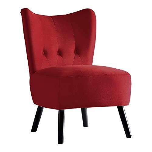 Homelegance Imani Velvet Accent Chair, Red