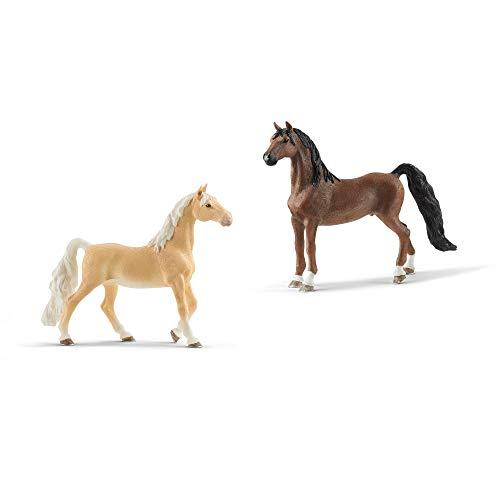 Schleich American Saddlebred Stute 13912 + Wallach 13913 - Horse Club Sammel-Figuren - Pferde Neuheiten 2020 Set