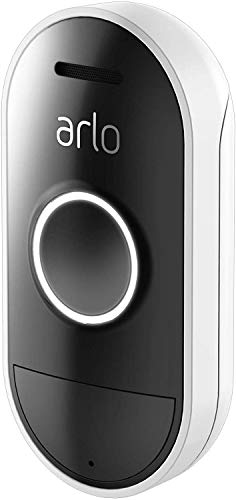 ARLO Doorbell AAD1001 Citofono Smart Wi-Fi, Impermeabile, Chiamata su Smartphone, Casella Vocale, Audio 2 Vie, Richiede Sistema Arlo per Funzionare