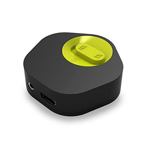 IDC Bluetooth stereo trasmettitore e ricevitore adattatore per TV, PC, altoparlanti, cuffie, FM, lettori DVD, CD e MP3/4e altri lettori musicali–facile da usare–Adattatore Bluetooth aptX Low Lantency AUX 3.5mm e Bluetooth 4.1