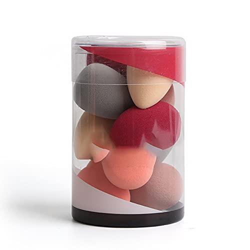 PURPLELU 10 Mini bocanadas en Polvo, Huevos de Belleza húmedos y Secos en Forma de Gota, adecuados para cimientos líquidos/Crema Facial, etc.