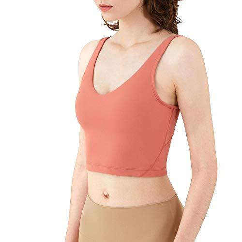 Cwang Pack Comodidad Sujetador Mujer niña Sujetador Superior sin Costuras Dormir Yoga Chaleco elástico,Rojo,M