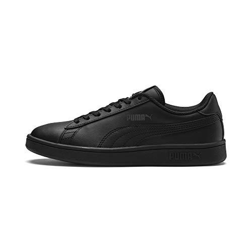 PUMA Unisex Smash v2 L Jr Sneaker, Schwarz Black Black, 38.5 EU