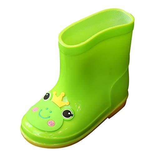Riou Botas de Agua Unisex Niños Botas de Lluvia de Animales de Dibujos Animados Brillantes Antideslizante Bebe Chicos Chicas Zapatos Calzado para Niños Pequeños