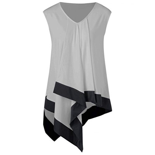 Great Features Of NREALY Summer Women Sleeveless V Neck T-shirts Casual Loose Irregular Tank Top