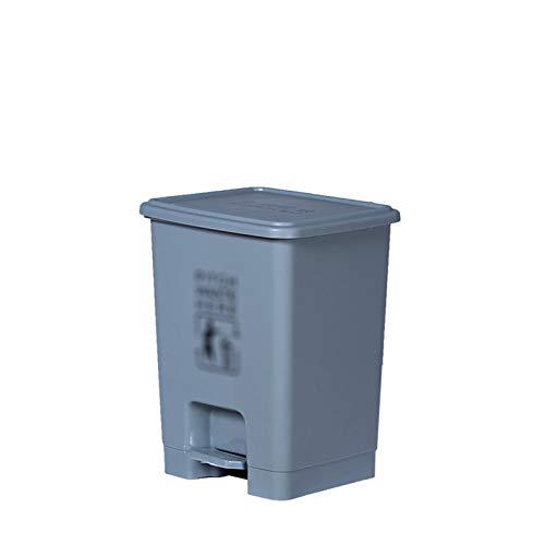 Outdoor trash can Chang-S-Q-123 Pedal Tipo Dustbin, Bajo Cocina Contador Bins Home Living Room Baño Plástico Basura Reciclaje Papelera, 15L(Size:15L,Color:A)