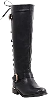 Lounge Round Toe Synthetic Knee High Boot