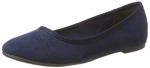 Tamaris Damen 22151 Geschlossene Ballerinas, Blau (Navy), 36 EU