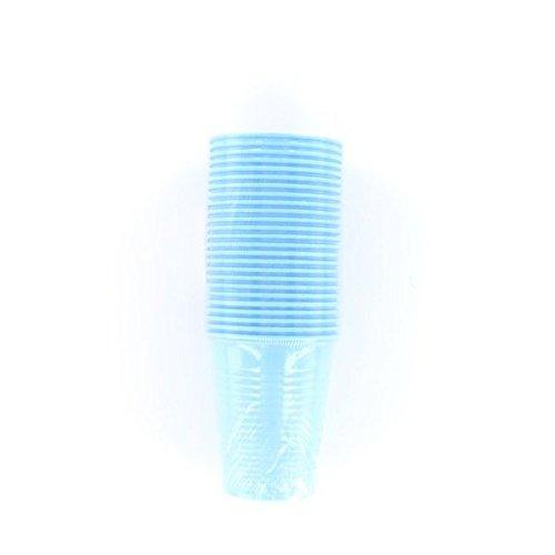 Générique 125 GOBELETS Plastiques RÉUTILSABLES 20CL Bleu Turquoise