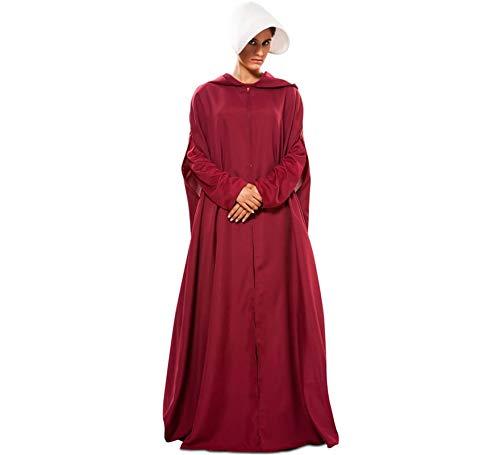 EUROCARNAVALES Disfraz de Capa de Criada Granate para Mujer