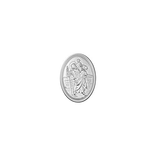 Fritz Cox® Schutzpatron der Reisenden - Heiliger Christophorus als Schlüsselanhänger und Medaille (Medaille)