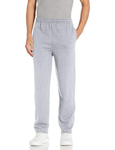 Gildan Men's Fleece Elastic Bottom Pocketed Pant, Sport Grey, Large