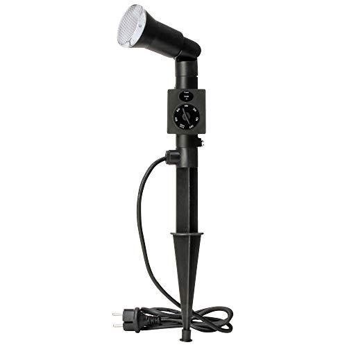Kopp 145352019 Led-tuinlamp met grondpen en schemerschakelaar, 1 lamp, 1,5 m voedingskabel, tuinspot met ledverlichting voor buiten, mooie buitenlamp voor tuin, IP44, zwart