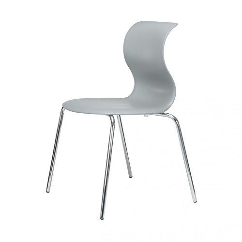 Pro 6 Stuhl mit verchromtem Gestell - granitgrau