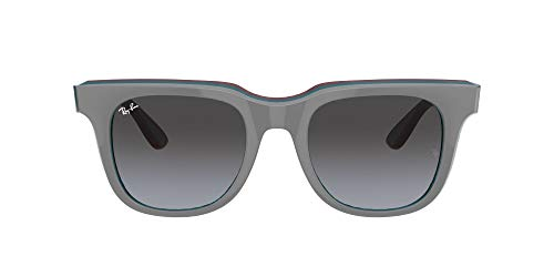 Ray-Ban Gafas de Sol RB 4368 Grey Burgundy/Dark Grey Shaded 51/21/150 unisex