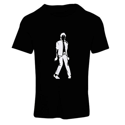 lepni.me Camiseta Mujer Me Encanta M J - Rey del Pop, 80s, 90s Músicamente Camisa, Ropa de Fiesta (XX-Large Negro Blanco)