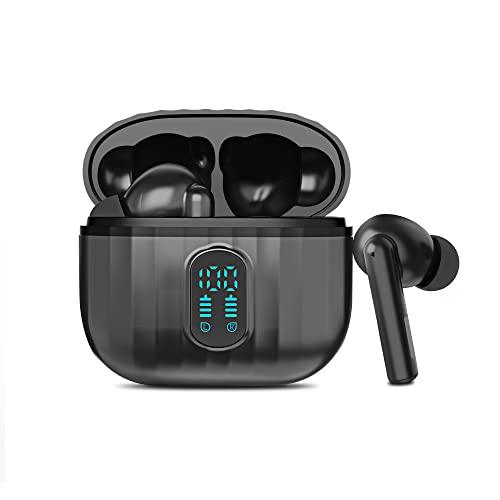 Auriculares Inalámbricos Bluetooth 5.1 - Fotgear Auriculares In Ear IPX5 Auricular Deportivo Audífono Pantalla con Micrófono Incorporado para Correr Deporte Runing Phone Android (Negro)