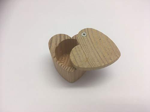 Herzdose aus Holz - Milchzahndose