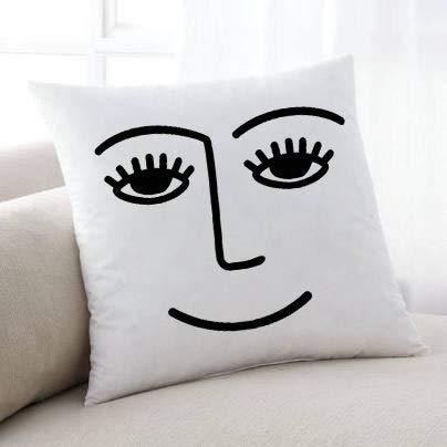 Tr73ans Smiley Face Pillowcase throw Pillowcase trendy Pillowcase winky Pillowcase winking Pillowcase Pillowcase facae popular Pillowcase cute Pillowcase decorative Pillowcase