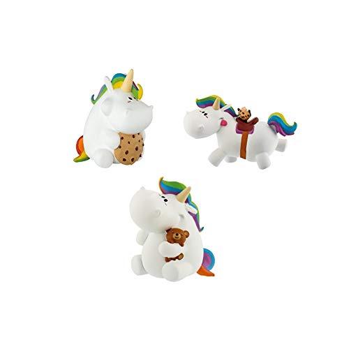 Pummeleinhorn Figuren 3er Set (Geburtstags Pummel, Pummel mit Teddy, Pummel Galopp)