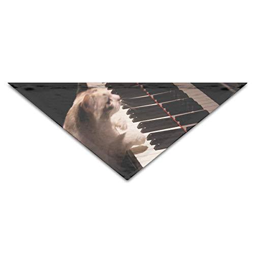 Gxdchfj Hundebandana-Schal-Dreieck-Schellfisch-Klavier-Katzen-Halstuch, Katzen-Geburtstags-Zusätze
