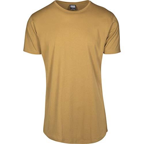 Urban Classics Herren Shaped Long Tee T-Shirt, Braun (nut), XL