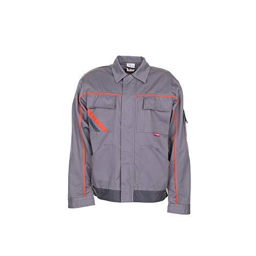Planam 2480044 - Chaqueta bund visline v2, tamaño 44, zinc/naranja/pizarra