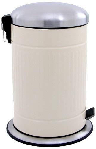 Made for us® 20 Liter 50er-Jahre Design Tret-Abfalleimer Retro-Mülleimer mit herausnehmbarem Inneneimer, Nostalgie Abfall-Behälter als Pedal-Treteimer für Küchen, 20 L für gelber-Sack Grüner-Punkt