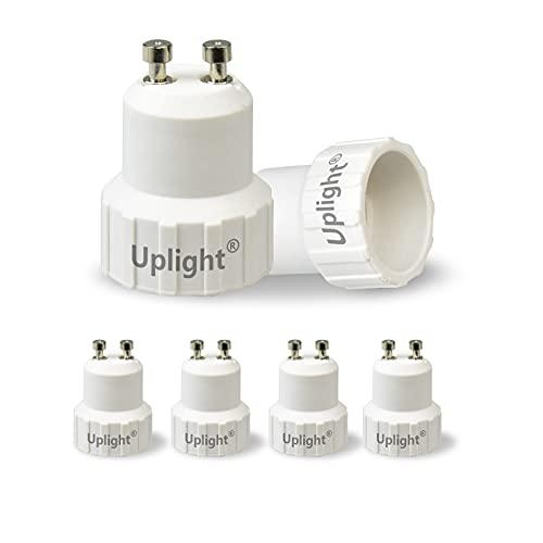 Uplight Adaptador GU10 a E14,Conversor Bombilla GU10 a E14,GU10 Socket Convertidor,0-250V,Potencia Máxima...
