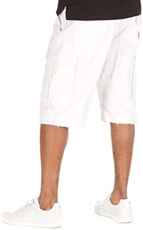 Hustle Gang White Vanguard Cargo Shorts