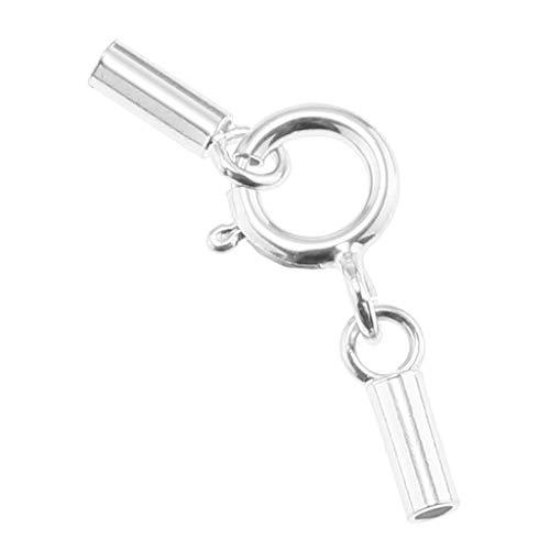 IPOTCH 10 St/ück Silber Leder Cord Endkappen mit Karabinerverschl/üssen DIY Schmuck Herstellung