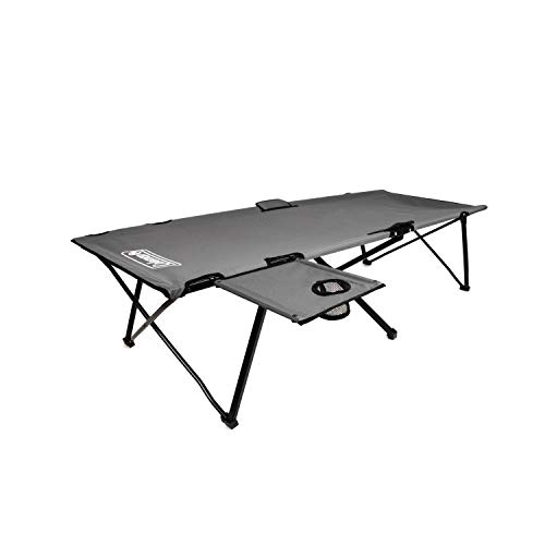 Coleman Camping Cot with Side Table | Pack Away Folding Cot with Table and...
